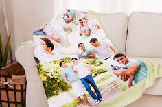 A photo blanket guards against cool spring breezes.