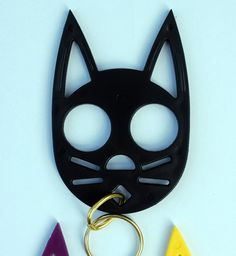 Kitty Keychain Self-Defense Device. Looks cute and would make you feel much safer walking to your car at night! $5.99