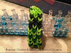 Minecraft Creeper Rainbow Loom Bracelet Tutorial - YouTube