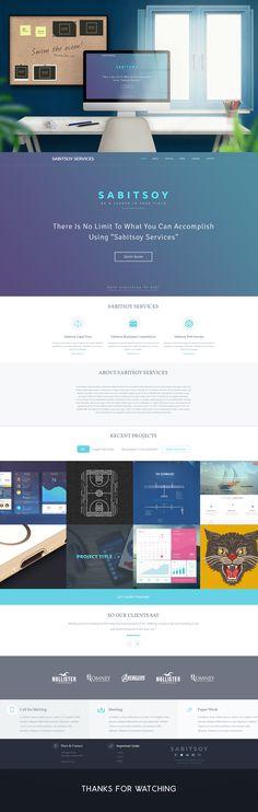 Sabitosy Service Landing Page on Behance