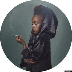 For Smoking Kids, Janssens dressed four to nine year olds in period costumes referencing the golden age of cigarette culture. The final touch to their retro-chic ensembles was a glowing cigarette (although Janssens are made of cheese, candles and incense instead of tobacco).