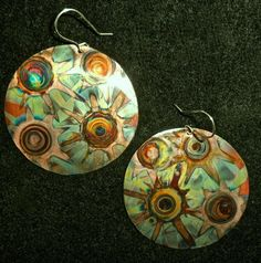 Gorgeous Heat Patinated Copper Jewelry by Dawily ~ The Beading Gem's Journal
