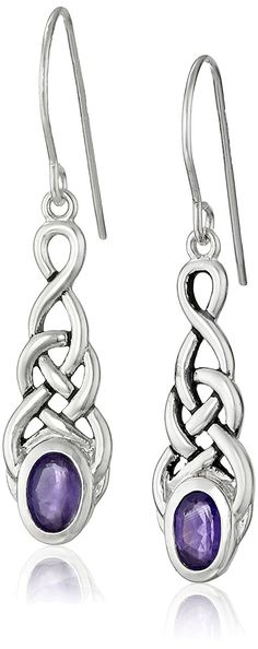 Sterling Silver Celtic Knot Linear Drop Earrings -- More info could be found at the image url. (This is an affiliate link and I receive a commission for the sales)