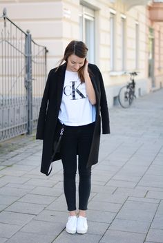 Outfit: Calvin Klein Jeans - pointy adidas sneakers