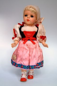 Czechia | Doll made by the company Lidova Tvorba. Costume from Plzen (Pilsen).