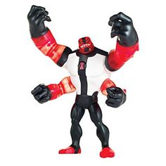 This Ben 10 action figure will inspire and entertain budding superheroes ages 4 years and up. Ben 10 Power Up Four Arms Deluxe Action Figure Aliens, Grandpa Max, Ben 10 Action Figures, Four Arms, Thomas The Tank, Samurai Warrior, Son Love, Animation Series, Entertaining