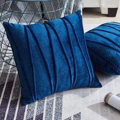 Velvet Striped Throw Pillow Cover