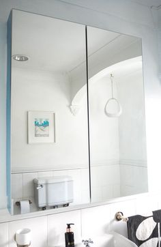 The IKEA Godmorgon Cabinet. Storage space in the bathroom is something I know lo. The IKEA Godmorgon Cabinet. Storage space in the bathroom is something I know lots of us struggle w Ikea Bathroom Storage, Bathroom Mirror Storage, Ikea Mirror, Glass Bathroom, Bathroom Styling, Bathroom Interior Design, Small Bathroom, Bathroom Ideas, Mirror Room