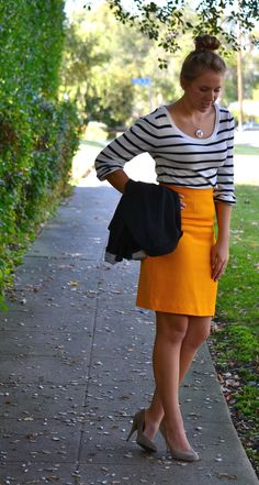 "WANT a bright pencil skirt. Nothing breaks up work day or winter ""blah"" like some good, solid, color."