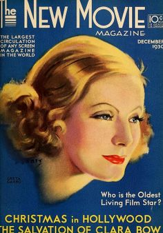 Greta Garbo on the cover of New Movie...