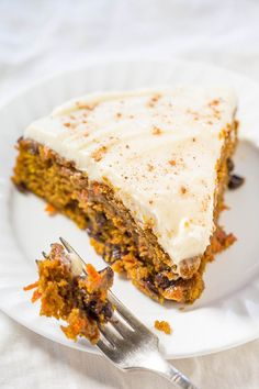 The Best Pumpkin Carrot Cake with Cream Cheese Frosting.