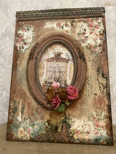 Decoupage Vintage, Vintage Crafts, Diy And Crafts, Arts And Crafts, Book Making, Painted Furniture, Modern Art, Mixed Media, Shabby Chic