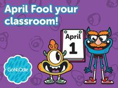 April Fool your classroom with GoNoodle brain break tricks! Classroom Helpers, Classroom Freebies, Classroom Organization, Classroom Management, Classroom Ideas, Too Cool For School, School Stuff, Teacher Resources, Teaching Ideas