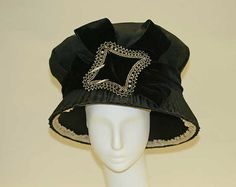 Hat Date: ca. 1910 Culture: American Medium: silk, steel Dimensions: Diameter: 12 3/4 in. (32.4 cm)