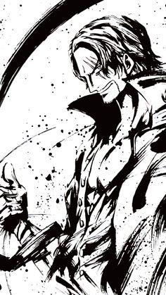 One Piece (Shanks) One Piece Manga, One Piece Drawing, Zoro One Piece, One Piece Tattoos, Pieces Tattoo, Roronoa Zoro, Manga Anime, Anime Art, Tattoo Geek
