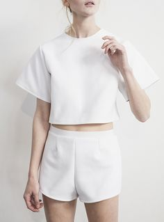 white summer separates #style #fashion
