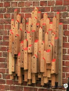 Bee Hotel made from leftover construction wood by Jdcoster.   #bees #fineart #nature #love #life
