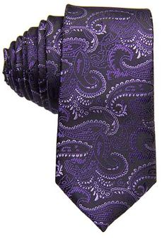 Dark Purple Paisley Tie- Why, yes, this *would* look awesome as part of a 'neck tie formal gown'...