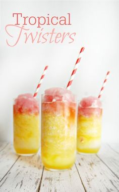 Tropical Twisters Drink Cocktail Mocktail Recipe – A Helicopter Mom – Mocktails 2020 Virgin Cocktails, Non Alcoholic Cocktails, Frozen Cocktails, Fun Drinks, Yummy Drinks, Party Drinks, Virgin Cocktail Recipes, Alcoholic Punch, Beach Drinks