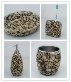 Bone skull bathroom set