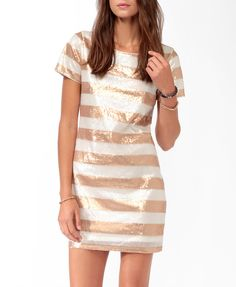 Sequined Stripes Dress | FOREVER21 - 2027706197