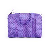 Quilted Koala Large Duffel with Makeup Bag (Mothers Day Gift) Lavender and Pink