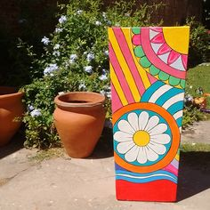 Cement Flower Pots, Flower Pot Design, Pallets, Country, Flowers, Boxes, Environment, Hand Crafts, Home Decorations