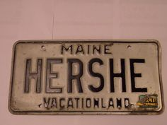 HERSHE MAINE LICENSE PLATE FREE SHIPPING