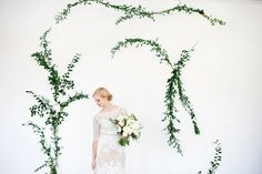 DIY vine wall backdrop