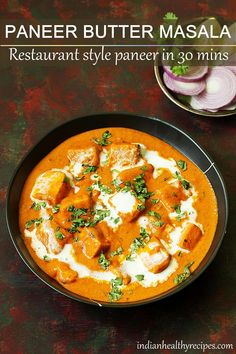 paneer butter masala is a delicious creamy restaurant style paneer recipe. This paneer butter masala recipe is super easy quick to make under 30 mins. Veg Recipes, Curry Recipes, Indian Food Recipes, Vegetarian Recipes, Cooking Recipes, Simple Recipes, Easy Cooking, Easy Paneer Recipes, Appetiser Recipes