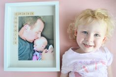 Father's Day Photo Frame Gift Idea: The Daddy Daughter Frame - Making Things is Awesome Fathers Day Photo, Fathers Day Gifts, Pictures Of People, Cool Pictures, Diy Father's Day Gifts From Baby, Father's Day Diy, Different Words, Daddy Daughter, Big Dresses