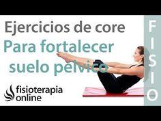 Ejercicios de core para fortalecer el suelo pélvico más eficazmente - YouTube Pilates Videos, Workout Videos, Keep Fit, Stay Fit, Fitness Diet, Health Fitness, Back Exercises, Gym, Yoga Teacher