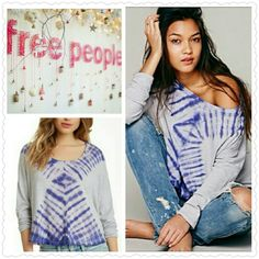 Free People Tie-Dye Top Free People Tie-Dye Top. Super boho chic!  No trade, discount with bundle! Free People Tops