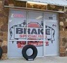 Perforated Window Film for Brake Specialist- We offer high quality Custom Vehicle Wraps, Car Wraps, Van Wraps, Bus wraps, Fleet Vehicle Wraps, Boat wraps, Full Color Change Wraps, Vehicle Decals, Logo Creation, Signs, Banners and more in the Austin, TX area and surrounding cities! We also offer vinyl removal & installation at our location as well as offsite!