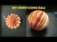 How To Make Honeycomb Ball. DIY Paper Craft and Art. Diy Diwali Decorations, Honeycomb Decorations, Paper Decorations, Christmas Decorations, How To Make Honeycomb, Honeycomb Paper, Easy Paper Crafts, Diy Paper, Tissue Paper
