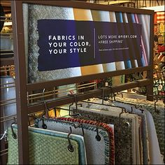 Fabric-Sample Array Floor-Stand Rack