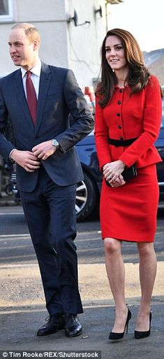 The Duke and Duchess of Cambridge today...