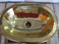 MOROCCAN SMALL OVAL COPPER HANDMADE BATHROOM SINK/BASIN 35cm drop-in sink for small toilet maybe? ebay £119 Copper Vessel Sinks, Copper Bath, Copper Kitchen, Drop In Sink, Toilet Sink, Small Toilet, Handmade Copper, Basin, Moroccan