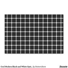 """Cool Modern Black and White Optical Illusion 10"""" X 15"""" Tissue Paper"""