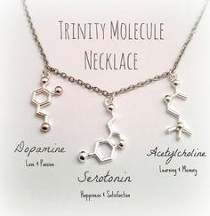 Molecuul sieraden Dopamine serotonine Acetylcholine DNA ketting armband Anklet wetenschap Biologie Chemie neurowetenschappen psychologie sieraden