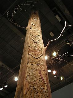 recycled book tree sculpture