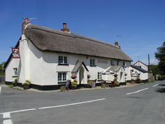 The 13th Century thatched Bell Inn at Parkham, North Devon, England,UK.