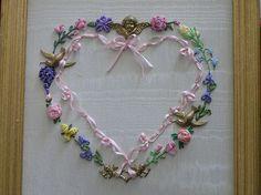 Silk Ribbon Heart by Lin Moon, via Flickr