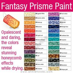 Fantasy Prisme Paint from Pebeo is the neatest paint I've ever used. You can literally watch this paint dry and not be bored. During the drying process, each time I check on the pieces I've made, they