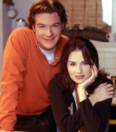 "Paula Marshall - Jason Bateman and Paula for their lead roles in ""Chicago Sons"" in '97"