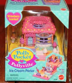 Vintage 1993 Polly Pocket Pollyville Cozy Cottage, Pet Shop And Playmat Map Polly Pocket World, Bluebird Vintage, Toys Land, Ice Cream Parlor, Toys Online, Retro Toys, Toy Boxes, Beautiful Dolls, Blue Bird
