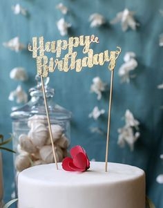 Happy Birthday Cake Topper