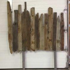 barnwood headboard, vertical