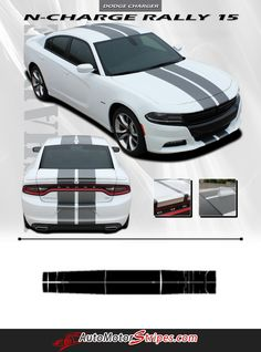 2015-2016 Dodge Charger N-Charge Rally 15 Factory Quality Mopar Style Vinyl Racing Stripes 3M Graphic Kit