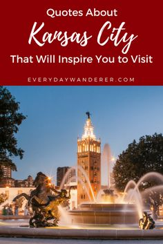 From sports and entertainment to the arts and its world-famous barbeque, these quotes about Kansas City will make you want to visit right now. Come see why this cowtown is sexier than you might think! Travel Usa, Travel Tips, Canada Travel, Travel Ideas, Kansas City Barbeque, City Quotes, Florida, California, United States Travel